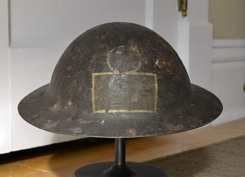 44th Battalion Brodie helmet