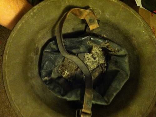 Need help on this us m1917 helmet with 77th id flash