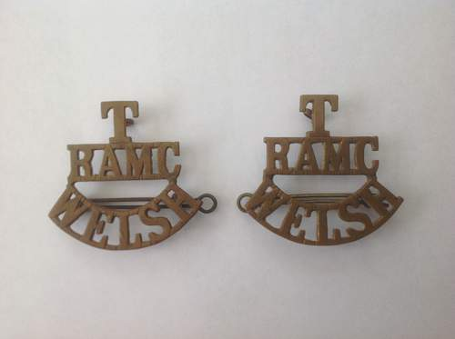 Territorial Welsh RAMC Shoulder titles